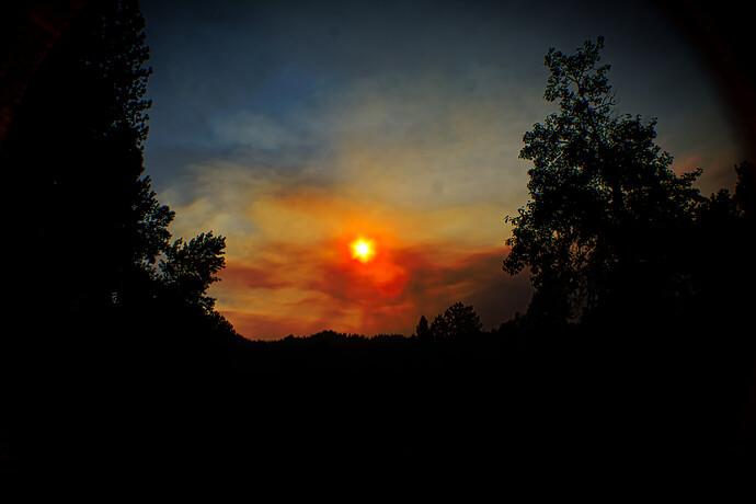 Mann's Smokey Sunset