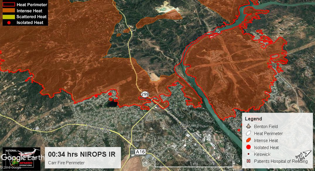 Ca Shu Carr Contained Continuing Fires Incidents Wildfire Intel