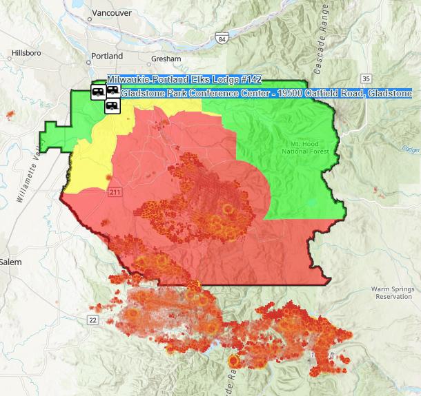 Clackamas Evac Map 091020